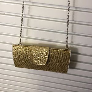 Special occasion gold purse with chain